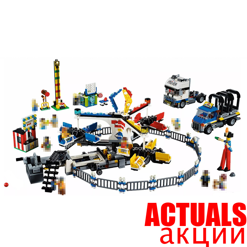 NEW LEPIN 15014 1858pcs Amusement park The carnival Model Building Blocks Set Compatible CREATOR 10244 Architecture toys gifts lepin 15014 1858pcs amusement park carnival model building kits blocks bricks creator legoinglys 10244 architecture toys gift
