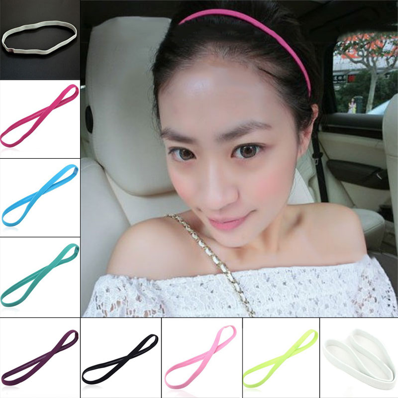 1pcs Headband Yoga Hair Bands Sports Headband Women Men Sport Anti-slip Elastic Sweatband Gym Headband Yoga Accessories