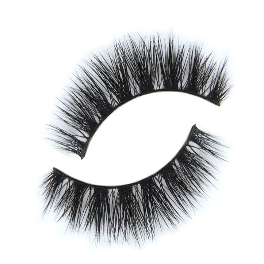3D Mink Makeup Cross False Eyelashes Eye Lashes Handmade ...