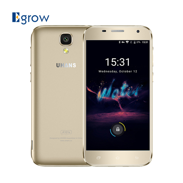 Original UHANS A101S 5.0 Inch Android 6.0 MTK6580 Quad Core 1.3GHz Smartphone 2G RAM 16G ROM Cell Phones 2450mAh Mobile Phone