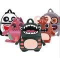 2016 hot sale New Cute Cartoon animal Backpacks Gift for Children Plush Cartoon School Bag for Kid /monkey/frog/panda