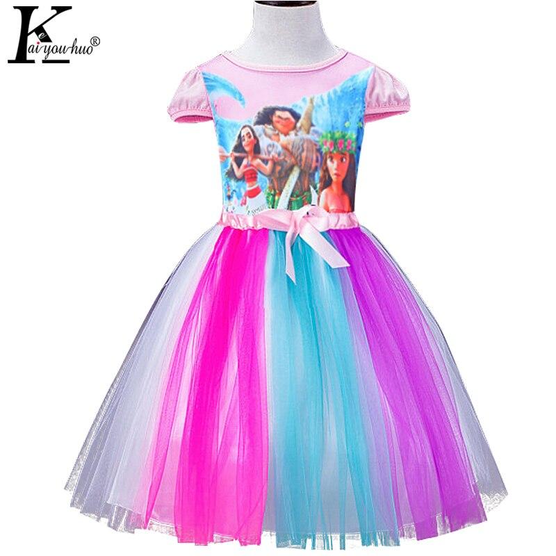 Beautiful Summer Girls font b Dress b font Children MOANA font b Dresses b font For