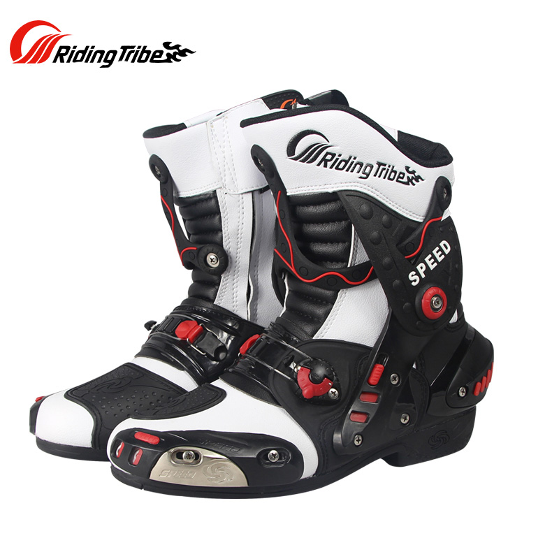 Riding Tribe Motorcycle Boots Shoes Motocross Botas Moto Motoqueiro Motocicleta Botte Botas Para Moto Racing Men's Riding Shoes riding tribe motorcycle waterproof boots pu leather rain botas racing professional speed racing botte motorcross motorbike boots