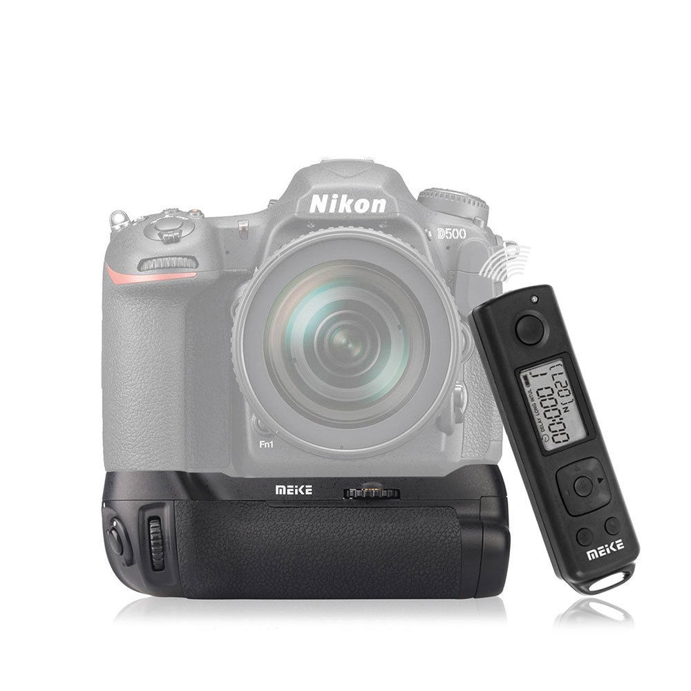 bilder für Meike Vertikale Batteriegriff handpackung 2,4G Drahtlose Fernbedienung für Nikon d500 EN-EL15 DSLR kamera MB-D17