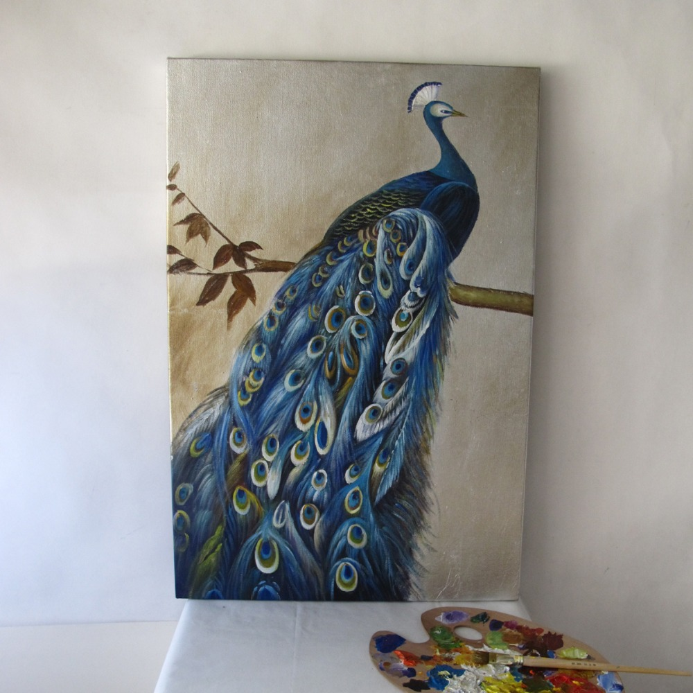 Online kopen Wholesale pauw olieverf canvas uit China pauw ...