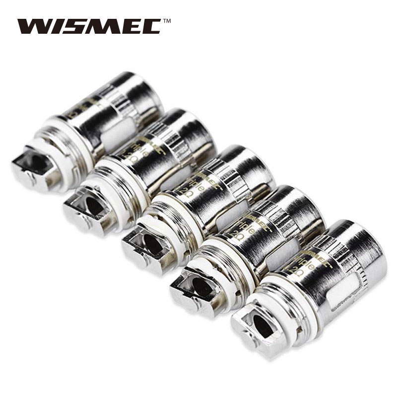 Original 5 pcs WISMEC Triplo Cabeça 0.2ohm Bobinas para WISMEC Amor Mini/Plus/Vicino/D30/Reux Mini, Elabo/Mini/SW/Divisor de Atomizador