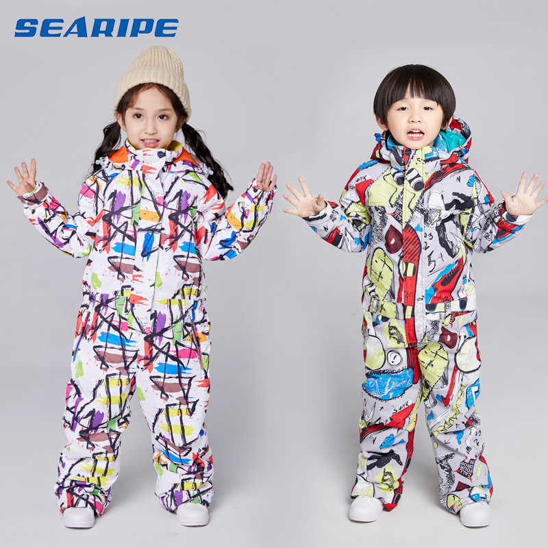 SEARIPE Kids Ski Suit Children Brands Waterproof Girls And Boys Snow Set Pants Winter Skiing And Snowboarding Jacket Child