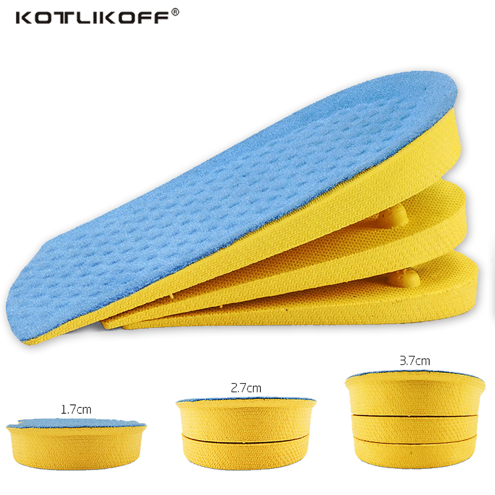 KOTLIKOFF Height Increase Insoles Cushion Height Lift Adjustable Shoe Heel Insert Taller Invisiable Half Insole Foot Pads