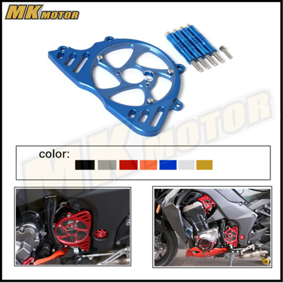 For KAWASAKI Z1000 Z 1000 2010 2011 2012 2016 Motorcycle Accessories Front Sprocket Chain Guard Cover Left Side Engine Blue bjmoto cnc aluminum motorbike accessaries motorcycle engine guard cover pad for kawasaki z1000 r 2010 2011 2012