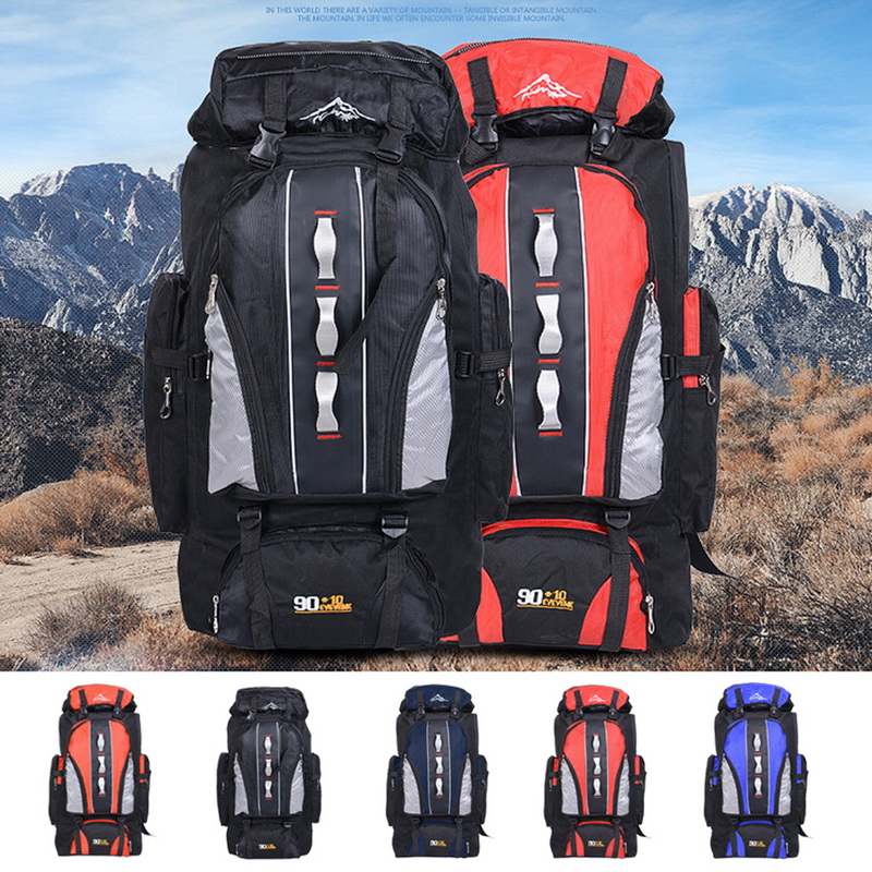 Waterproof Climbing Backpack Rucksack 100L Outdoor Sports Bag Travel Backpack Camping Hiking Backpack Women Trekking Bag For Men