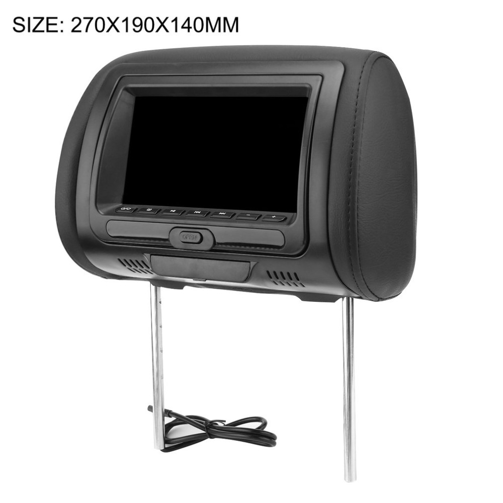 Universal 7 Headrest Car DVD Player Black Car DVD/USB/HDMI Car Headrest Monitors with Games Disc Internal SpeakersUniversal 7 Headrest Car DVD Player Black Car DVD/USB/HDMI Car Headrest Monitors with Games Disc Internal Speakers