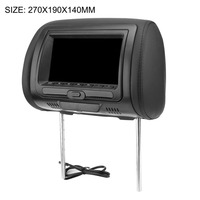 Universal 7 Headrest Car DVD Player Black Car DVD/USB/HDMI Car Headrest Monitors with Games Disc Internal Speakers