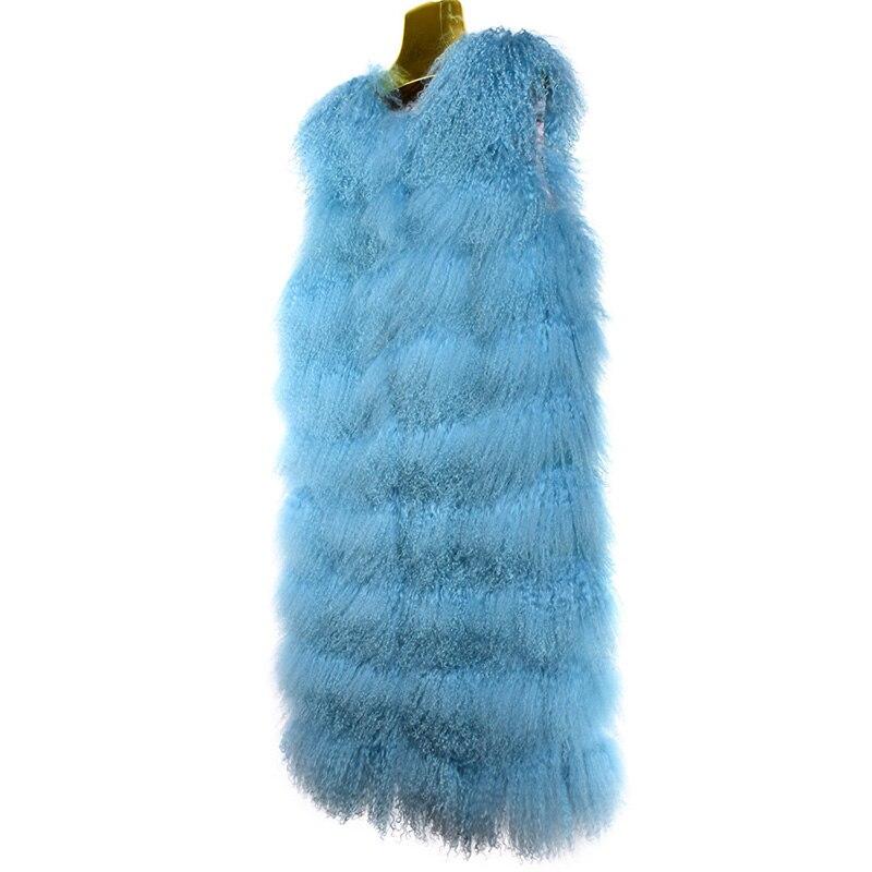 Manches Manteaux 269e Mongolie Nouvelle Chaud 2018 Gilets Long Green Sans Laine Fourrure Mode Femmes Épais Naturelle Petit Veste Femelle Bouclés Moutons Et pourpre De bleu fwfqRZ