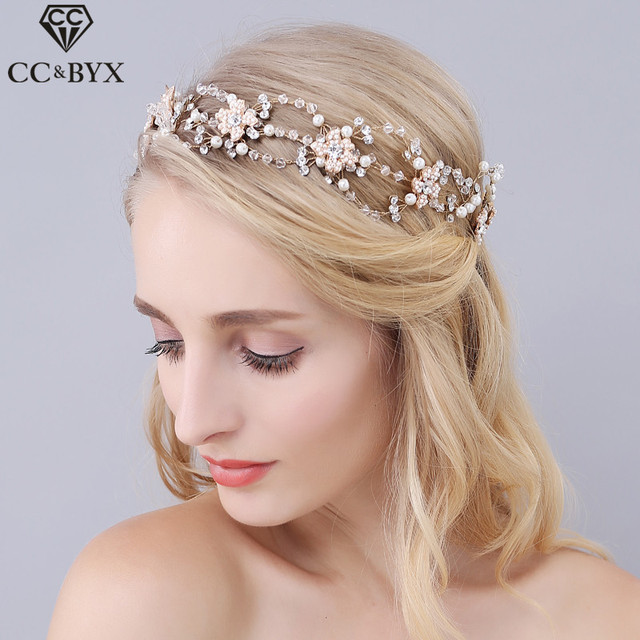 Cc Jewelry Wedding Headband Hair Bands Crowns Tiaras Bridal Accessories For Women Party Decorations