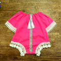 Free shipping Crochet Ruffled Children's Sunsuit lace playsuit Kids Clothing Set Baby girls Jumpsuit Cotton Rompers Photo Props