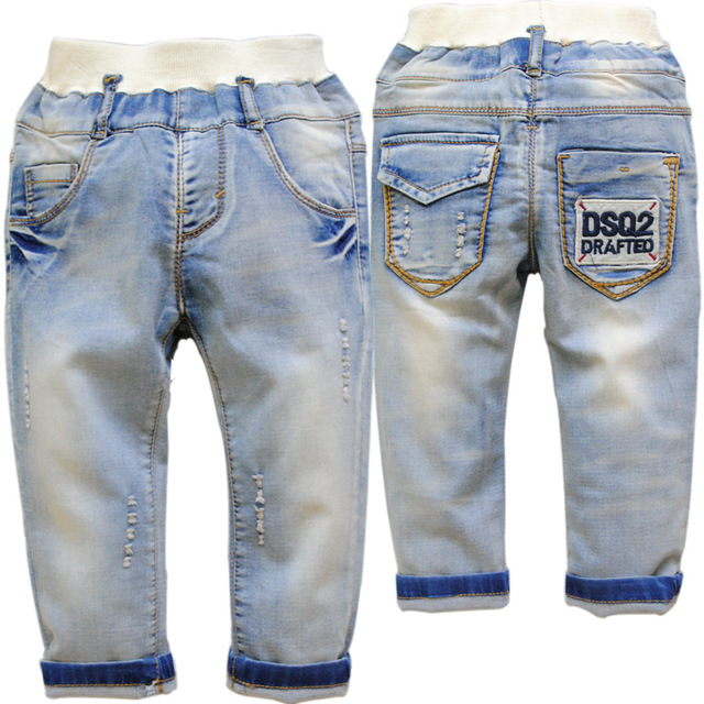 6245 High quality 2016 Spring and Autumn kids pants boys baby  jeans children jeans soft denim fashion new