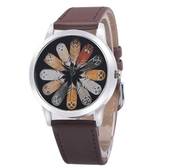 Hot Sale Brand New Fashion Cute Twelve Owls Watches Women Dress Watch Stylish Women Clock Casual Watch Quartz Watches цена и фото