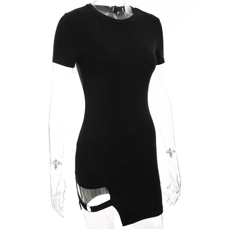 Sweetown черное облегающее платье с высоким воротником для женщин 2019 осенне-зимнее Клубное платье с длинными рукавами женские Базовые платья элегантные Vestidos