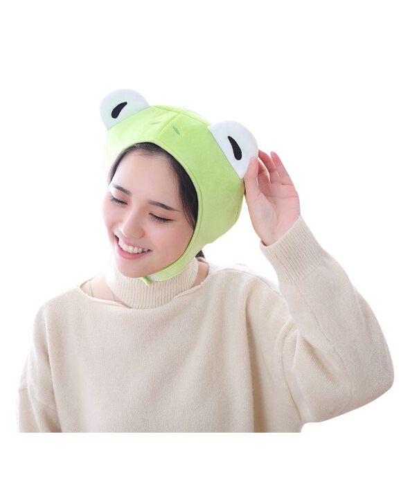 Boys Costume Accessories Novelty & Special Use Animal Cap Frog Cosplay Props Accessories Plush Head Halloween Cosplay Party Animal Plush Head Cap Cute Green Hat