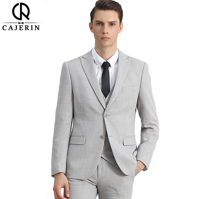 Cajerin Polyester Men Clothing Smart Casual Wedding Suit Tailor ...