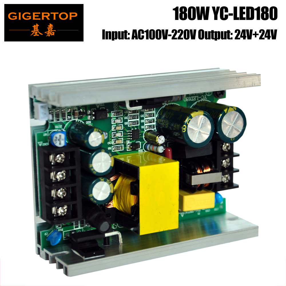 YC-LED180 180W Power Supply For 54x1w/2w/3w Led Par Cans Aluminum Housing Full Power Support 12V/24V Output Made In China