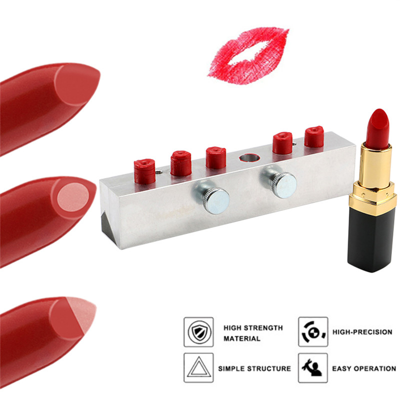 DIY Lipstick Mold One Mold Three Uses with 6 Holes 12.1 mm Beak Style Sandwiched Lipstick Double Color Aluminum Lipstick Mold