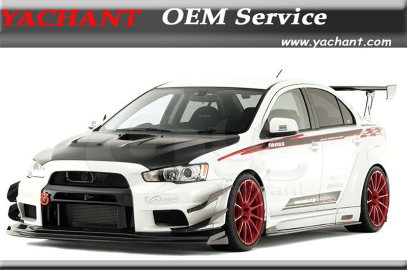 FRP Full Fiber Glass VS Wide Body Version Style Bodykit Fit For 2008-2012 Mitsubishi Lancer Evo X Body kit ...