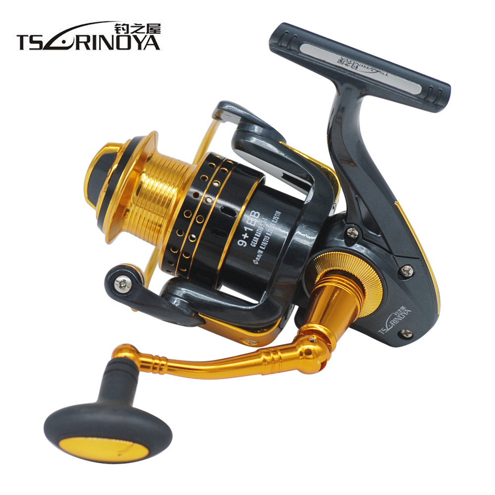 цена на TSURINOYA 9+1BB Spinning Fishing Reel Fishing Wheel Carretilha Para Pesca Spinning Reel Pesca Coil Moulinet Peche Free Shipping
