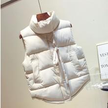 2020 herbst Winter frauen Weste Weste Taste Tasche Warme Westen Frau drehen unten Kragen Ärmellose Weibliche Casual Jacke mantel