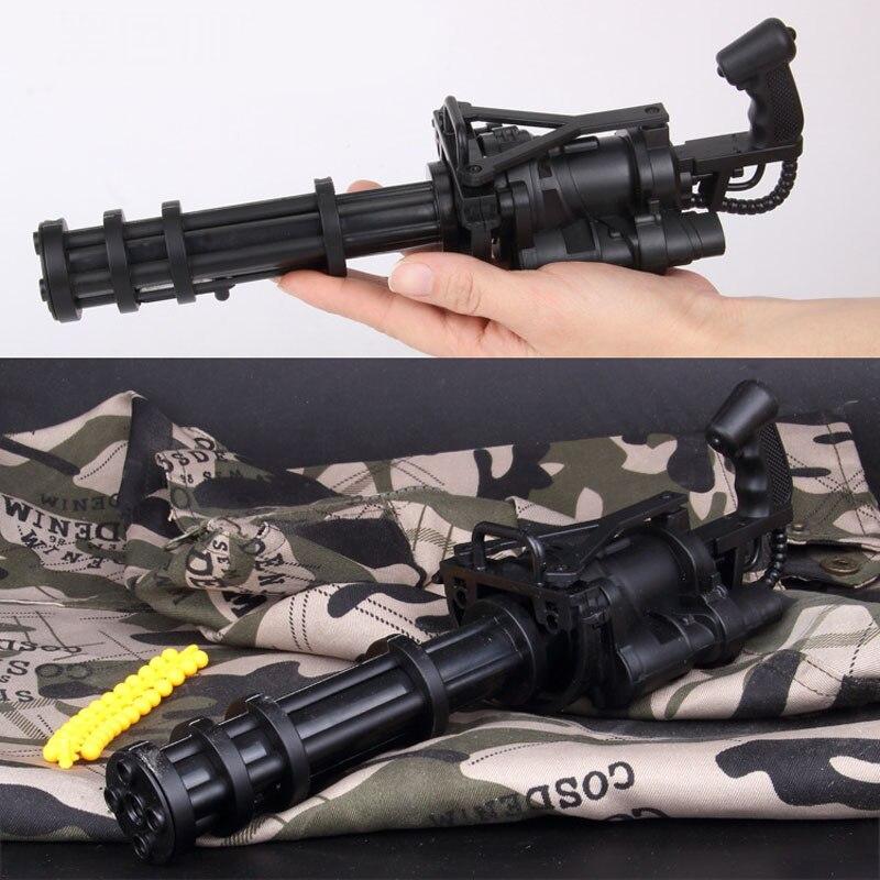купить Gatlin Toy Gun Can Shoot Soft Bullets And Soft Bombs Toys For Children Hobbies Action Toy Figures по цене 1113.8 рублей