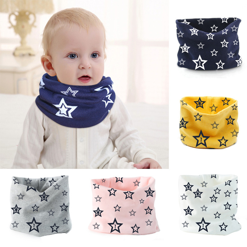 Children Warm Cotton Scarf Boy Girl Scarf Shawl Winter Neckerchief Neck Ring Feeding Baberos Lovely Kids Collars Ring Neckerch