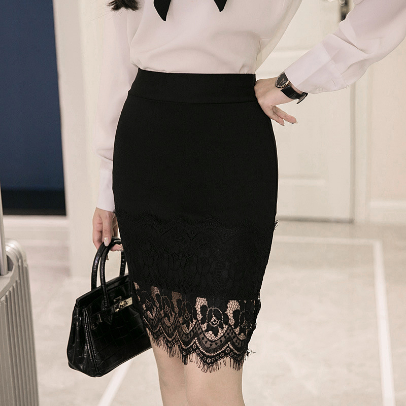 d2801fa7ac8b2 New Lace Patchwork Skirts 2018 Summer Sexy Girls Skirts Casual Package Hip  Short Skirts Women Tight