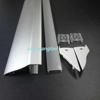 2000mm/set,10meter to 100meter/pack, Wall Mount LED Aluminum Channel Profile for Led Strip,PC Diffuser,Surface Mount SDW052