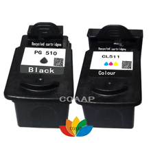 цена на 2 Compatible PG-510 CL-511 Ink cartridge for Canon PIXMA MP230/MP250/MP260/MP280/MP480/MP495/MX320/MX360/iP2700