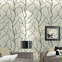 Black and White Art Trees Walls Wallpaper Roll Mural Sofa Tv Unit Background DZK116 papel de parede Decor 10m