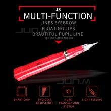 1Pcs Professional Red Permanent Makeup Machine Rotating Pen Built-in Battery Motor for Eyebrow Lips Tattoo Beautiful Art