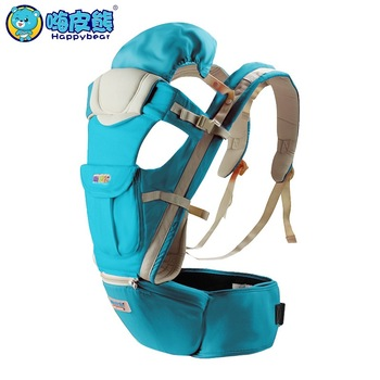 HappyBear Multifunction Baby Carrier Backpack Breathable Cotton Sling For Baby Chicco Wrap Rider Canvas Front Backpack Рюкзак