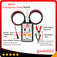 Fuel Pressure Tester EM276 Injector Tester Fuel Injector 4 Pluse Modes Tester Powerful Fuel Pump System
