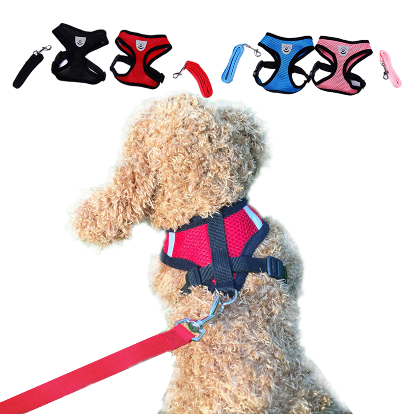 S-L Pet Dog Vest Adjustable Leash Rope Set Spring/Summer Dog Shirt Pet Clothes For Dogs Cats Puppy Dog Clothes Wholesale 40JA17