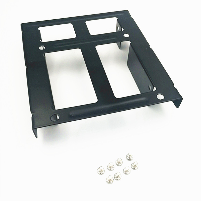 Image 5 - Dual SSD HDD Mounting Bracket 3.5 to 2.5  Internal Hard Disk Drive Kit Cables 2.5 hard disk drive to 3.5 bay tray caddy-in SSD Adapters from Computer & Office