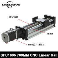 SFU1605 700 мм продвижение Limited линейные рельсы Линейный система привода Модуль Таблица путешествия длина ЧПУ Руководство Ballscrew раздвижные