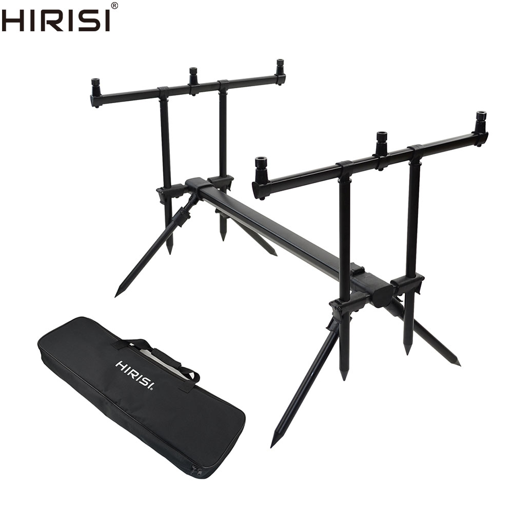 Aluminium Carp Fishing Rod Pod Set For 3 Fishing Rods Adjustable Stand Holder Fishing Pole Pod Carp Fishing Equipment