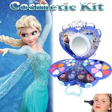 39Pcs Disney Cosmetic Kit For Frozen Series Makeup Set Girls Practice Make Up Toy Ornaments Children