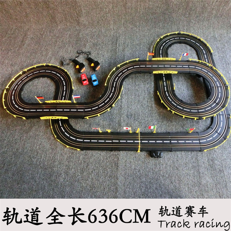 636cm 143 electric rail car track set double rc racing kids toys boys gift in diecasts toy vehicles from toys hobbies on aliexpresscom alibaba group
