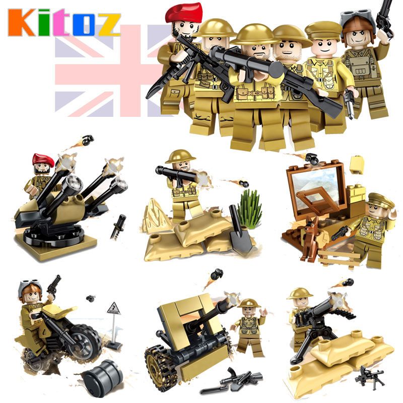 WW2 World War II Battle of Imphal UK British Army Soldiers Military Toy Crismas