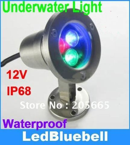3 w rgb subaquatica luz de inundacao levou 3x1 w piscina lampada impermeavel 12