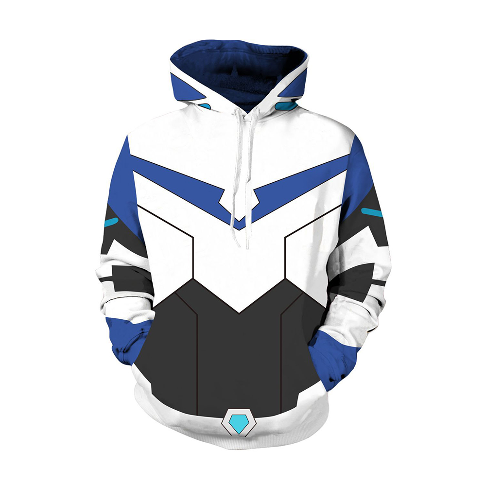 Anime Voltronn Hoodies Defender of the Universe Cosplay Costumes Keith Akira Kogane Printing Men Sweatshirts Hooded Sweatshirts