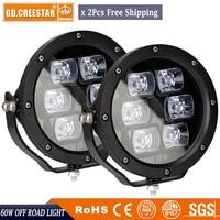 Wholesale Off Road Led Lights 12V 60W 4x4 Spot Led Auto Lighting 7 Inch Round Led
