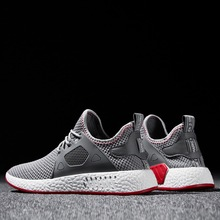 New Fashion Men Shoes Casual Weaving Fly Mesh Breathable Light & Soft
