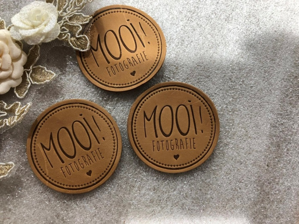 Customized Real Leather Label For Jeans / Bags / Clothes Genuine Leather Label Debossed / Engraved Logo
